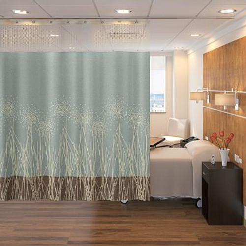 "Case of 30 WITH MESH curtains.  size 100"" W x 100"" H including white mesh heading with grommets"
