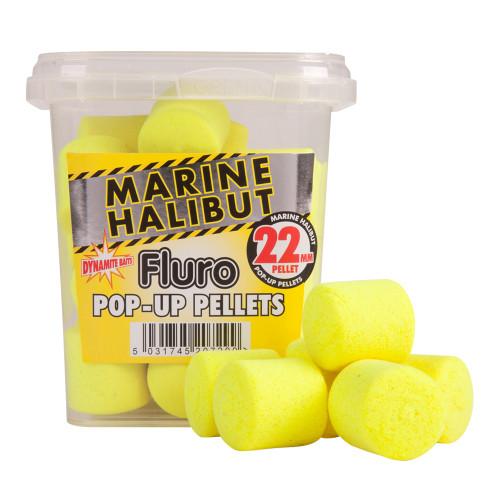Dynamite Baits Yellow Marine Halibut Pellets Fluros 22mm