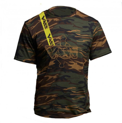 Vass Embroidered Camouflage T-Shirt with Yellow Printed Vass Brace