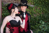 red and black steampunk wedding dresses