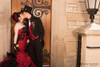 red and black gothic wedding gowns