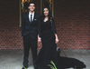 black gothic wedding gown