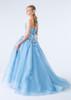 Light Blue Tulle Wedding Dress