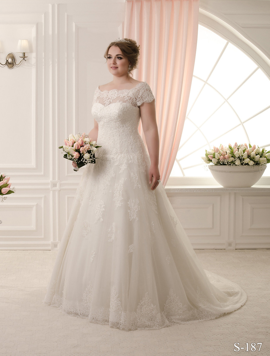 Plus Size Wedding Dress with lace
