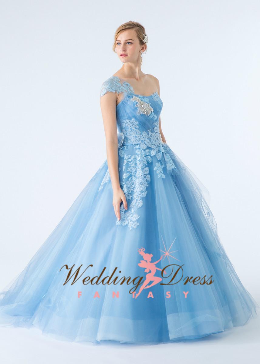 Light Blue Tulle Wedding Dress - Wedding Dress Fantasy