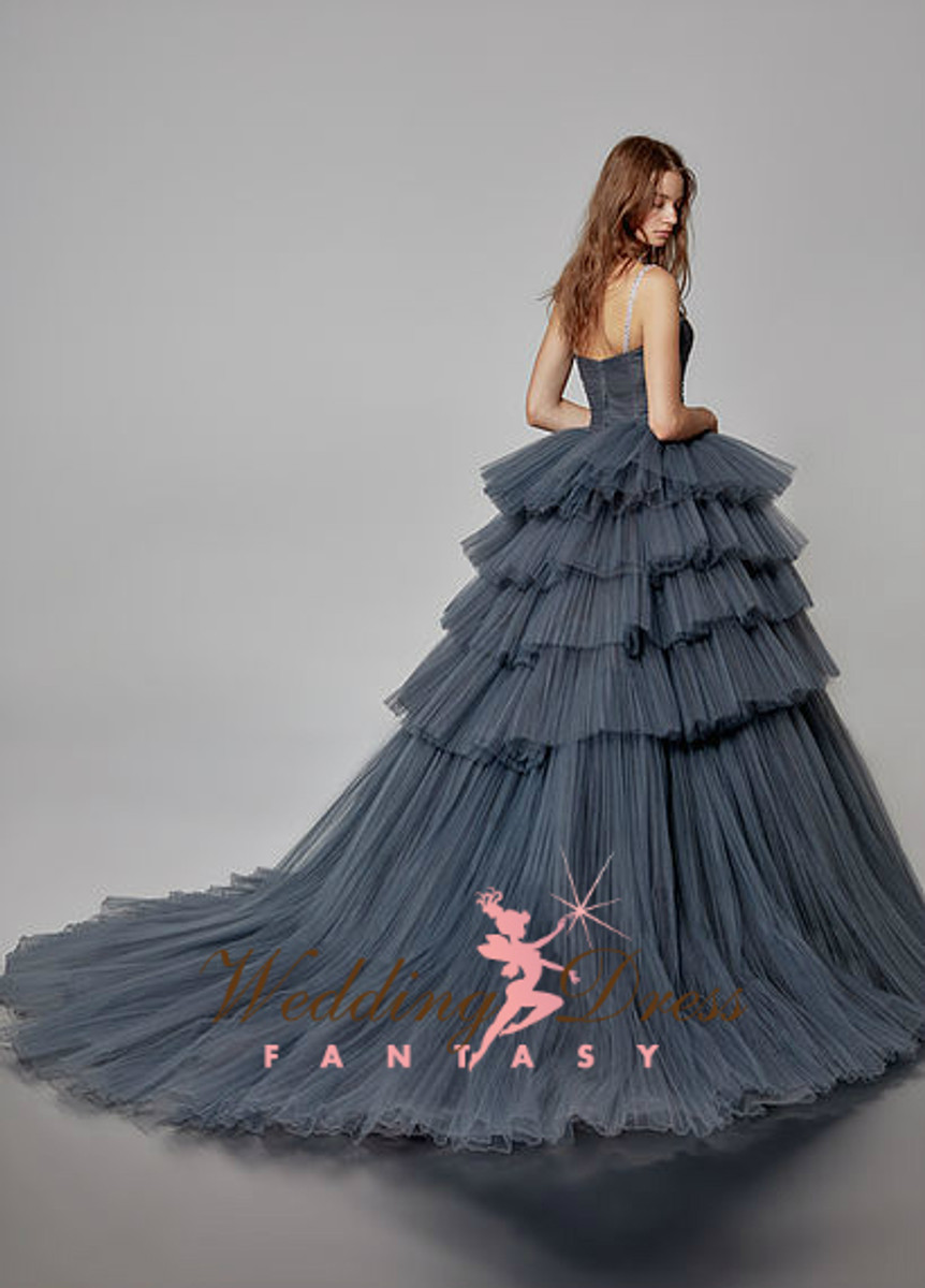 Charcoal Gray Wedding Dress