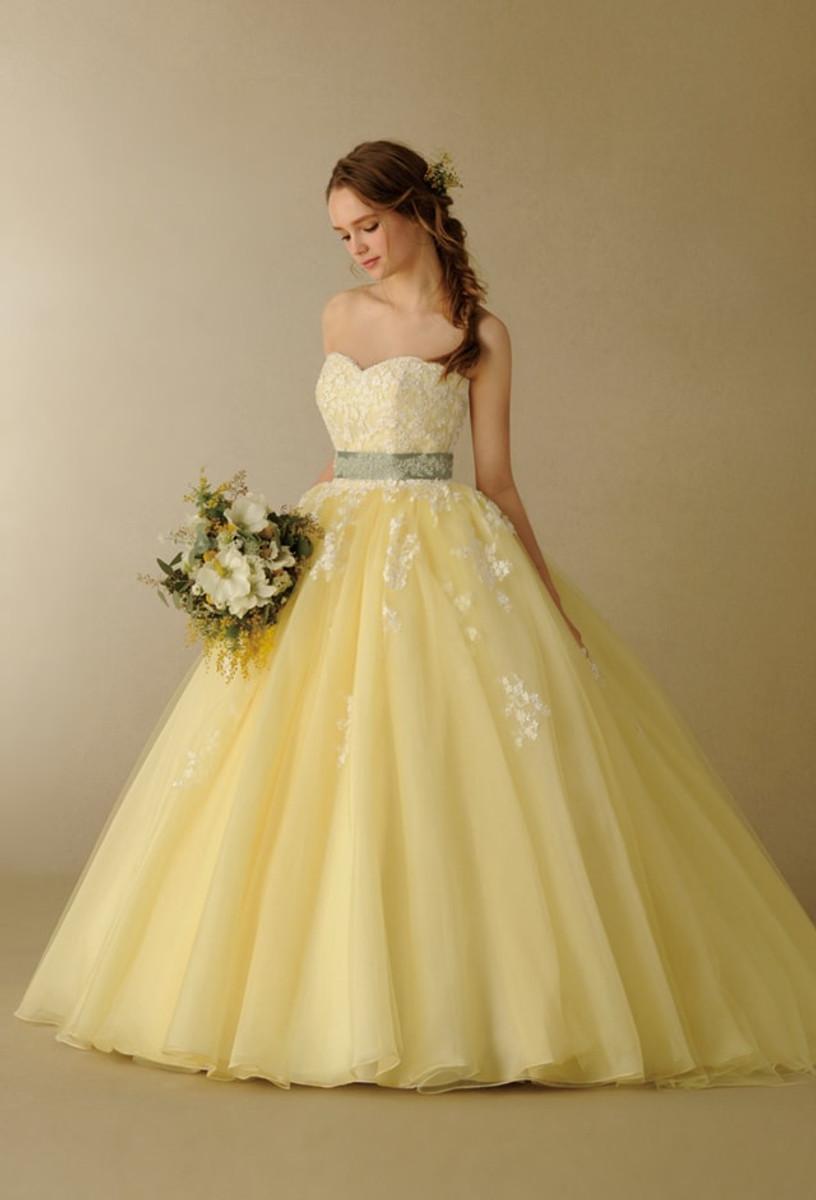 yellow wedding dress
