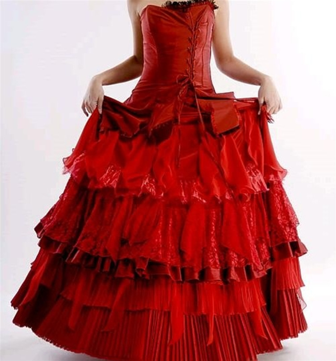 Red Corset Wedding Dresses