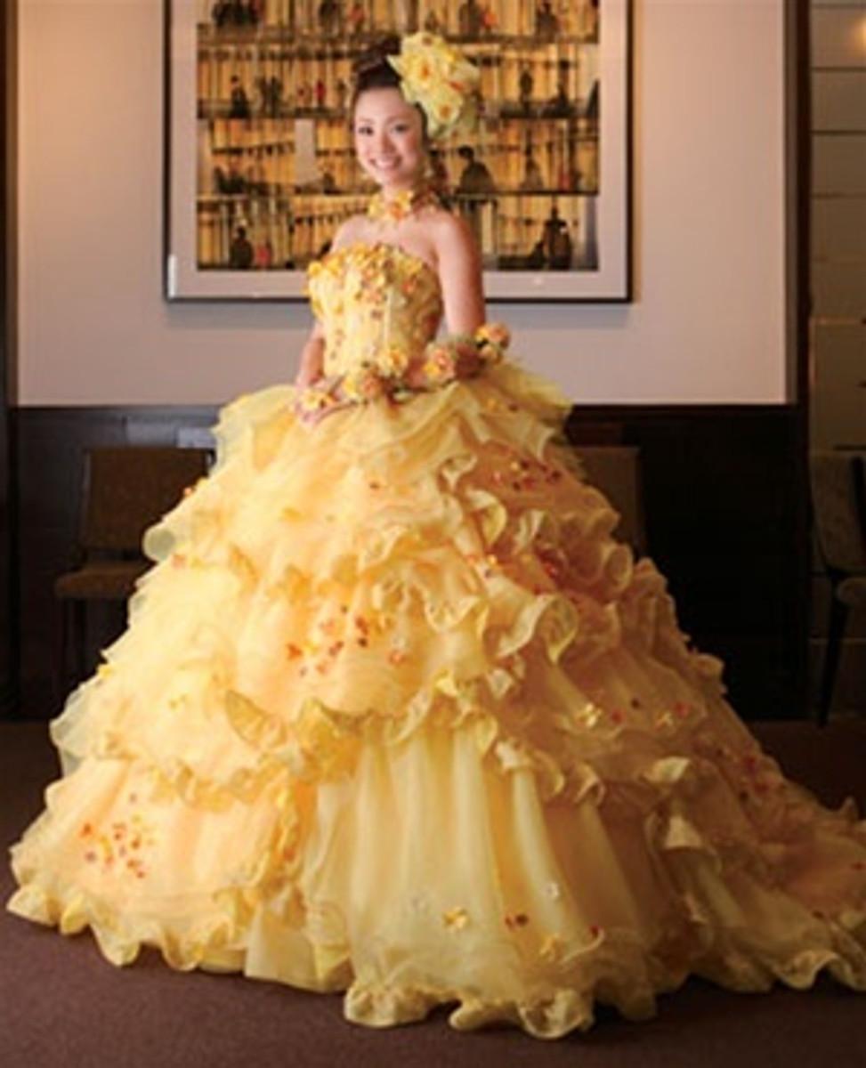 Beauty And The Beast Bridesmaid Dresses: Yellow Belle Wedding Dress Beauty And The Beast