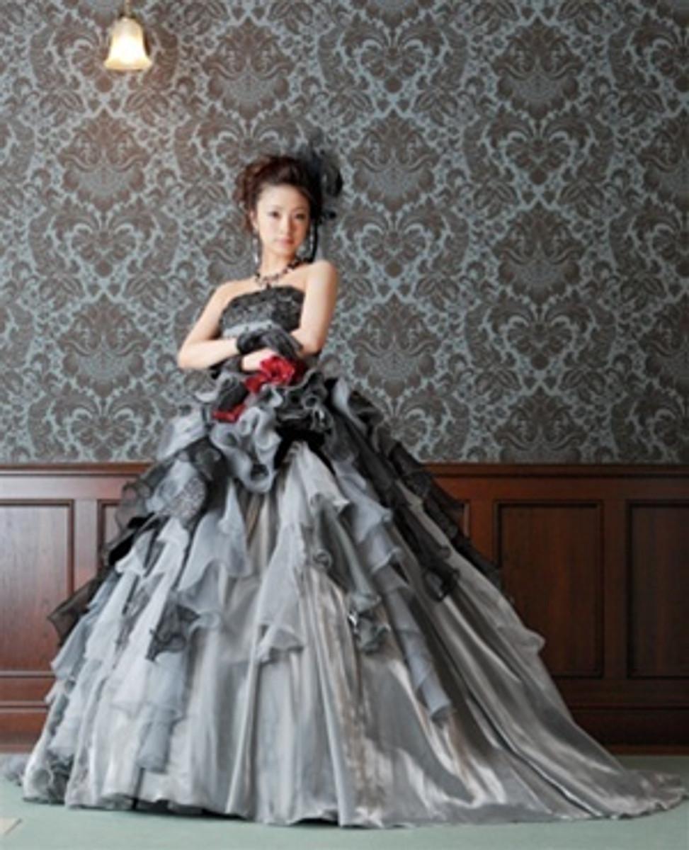 Gray Wedding Dress