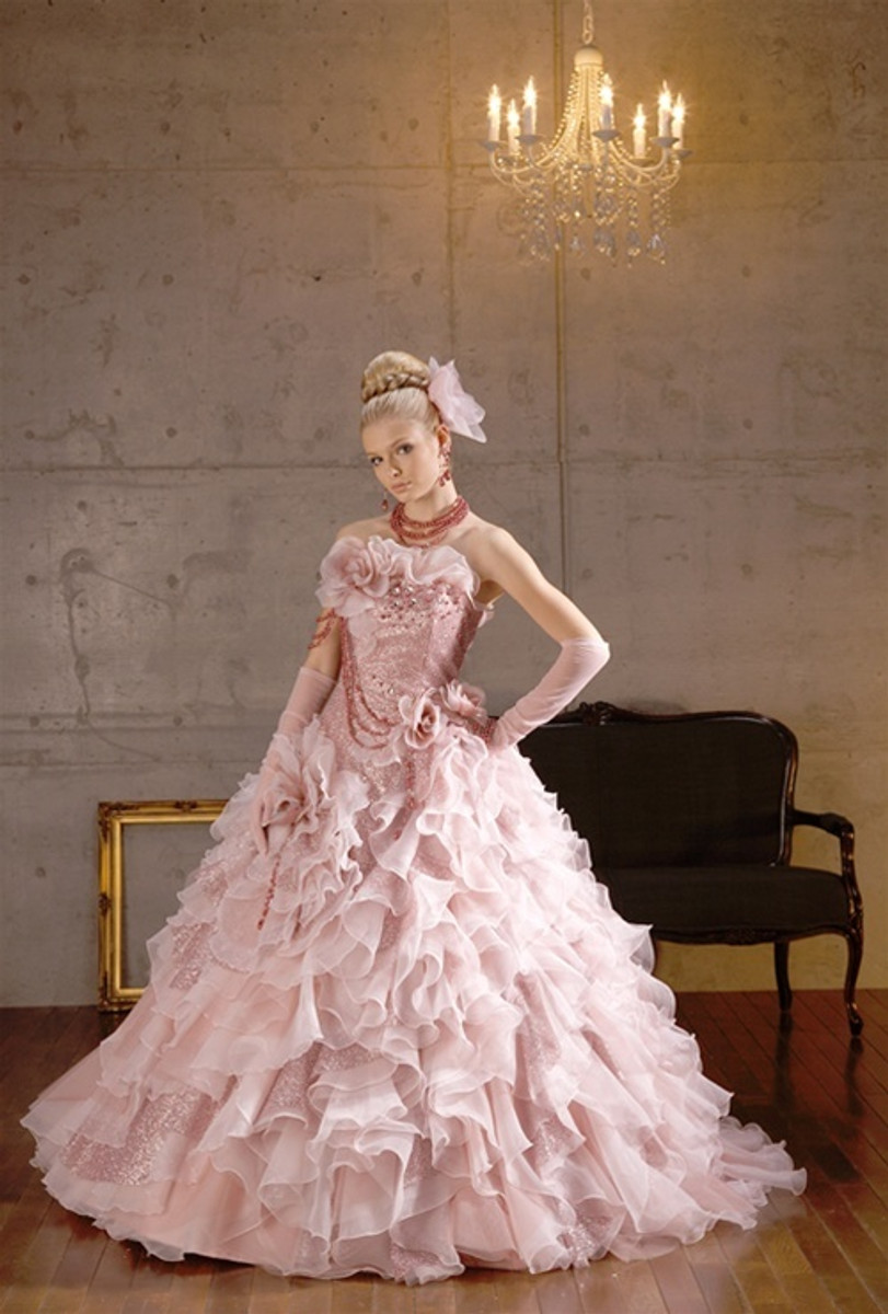 Pink Wedding Dresses and Bridal Gowns