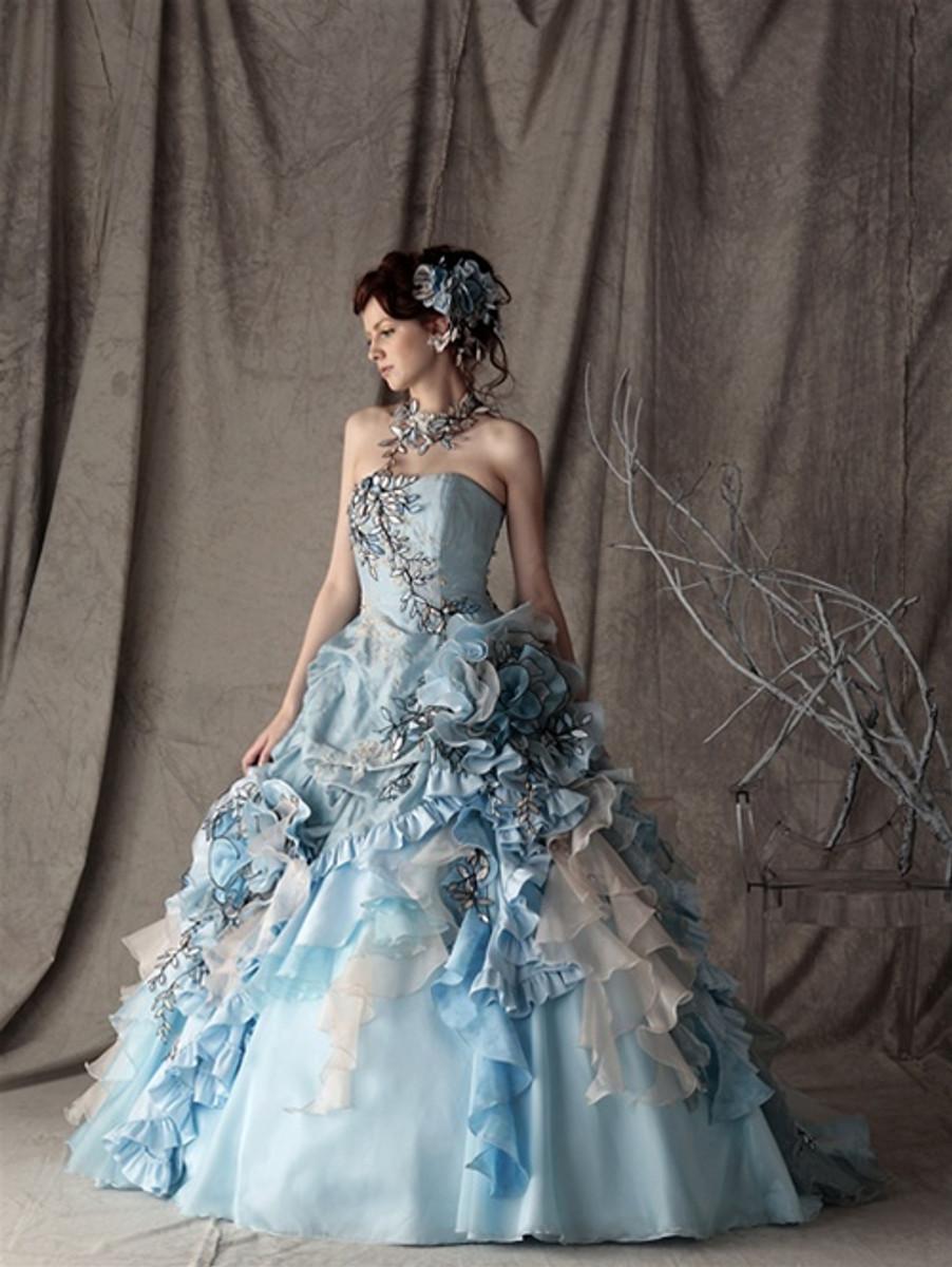 Blue Wedding Dress Alice in Wonderland