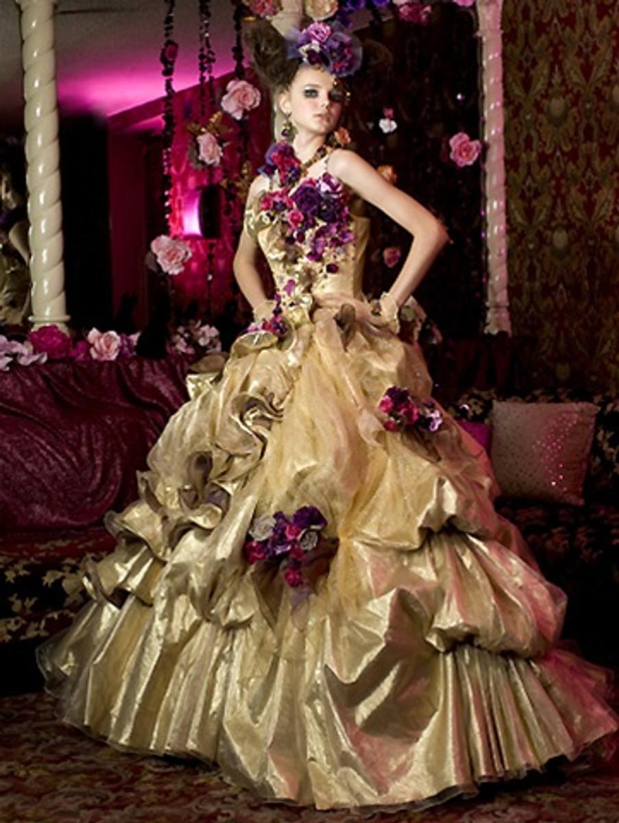 Gold wedding dress junglespirit Image collections