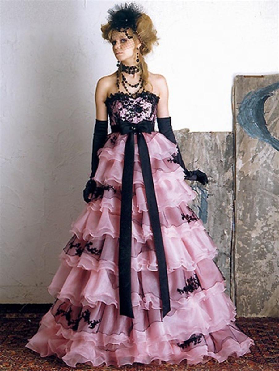 Pink Wedding Dress, Pink Wedding Gown, Pink Bridal Gown, Custom Pink ...