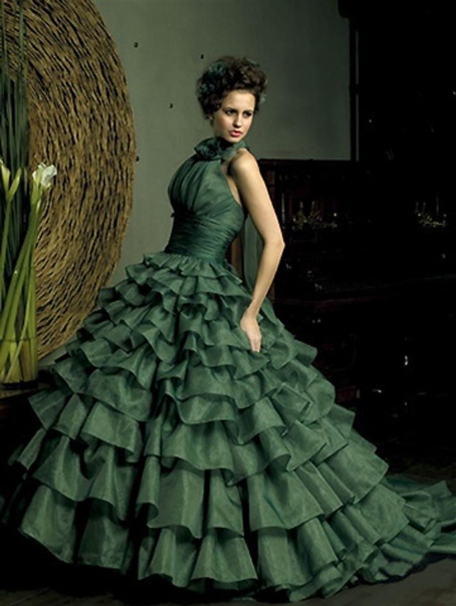 Green Wedding Dress Ballgown