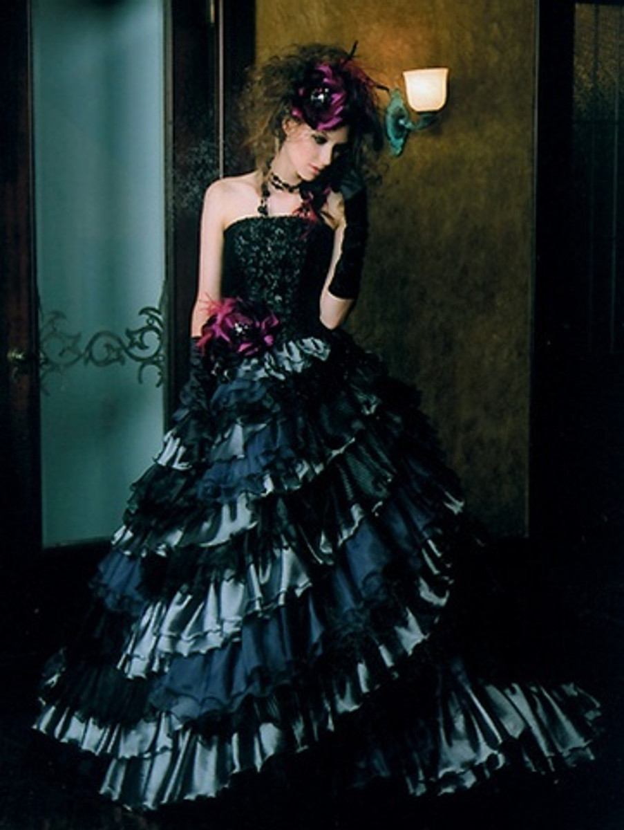 Black gothic wedding dress junglespirit Image collections