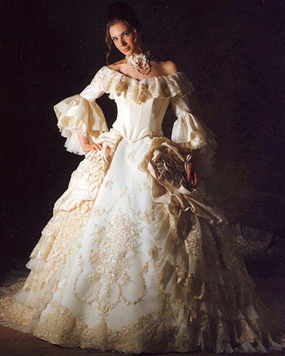 Marie Antoinette Wedding Dress, Marie Antoinette Bridal Gown