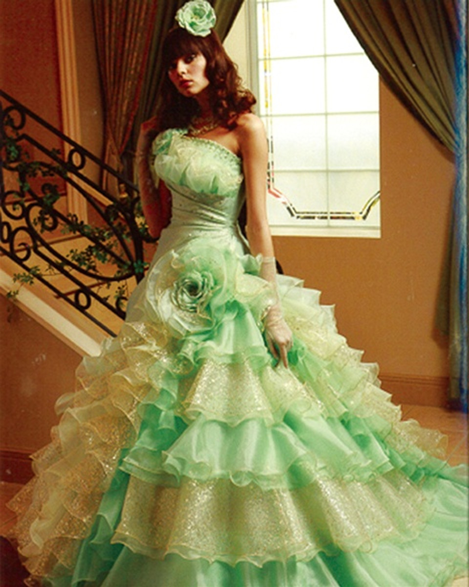 Green wedding dress lime green wedding dress available in every color junglespirit Image collections