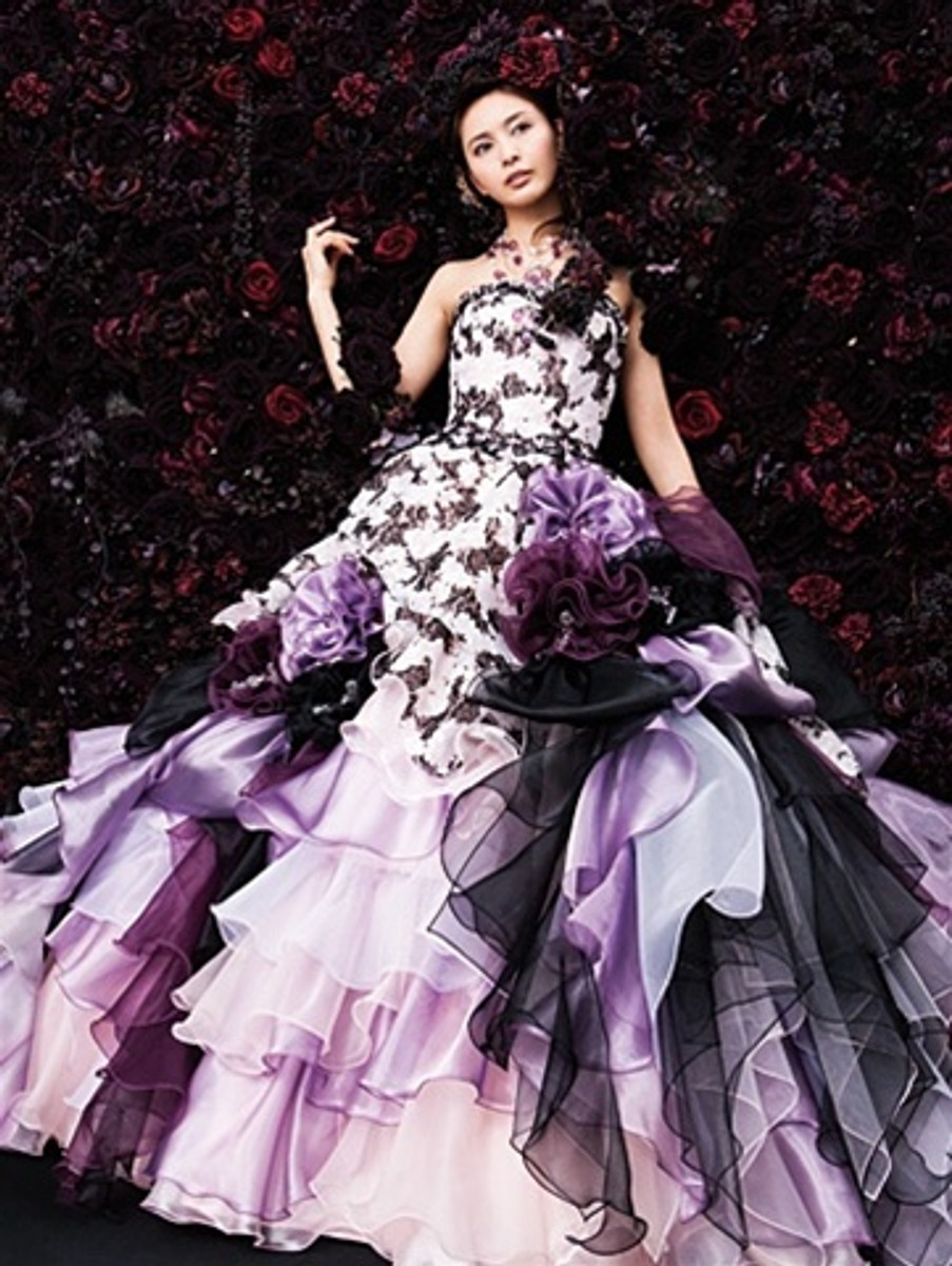 Purple bridal gown purple bridal gown available in every color junglespirit