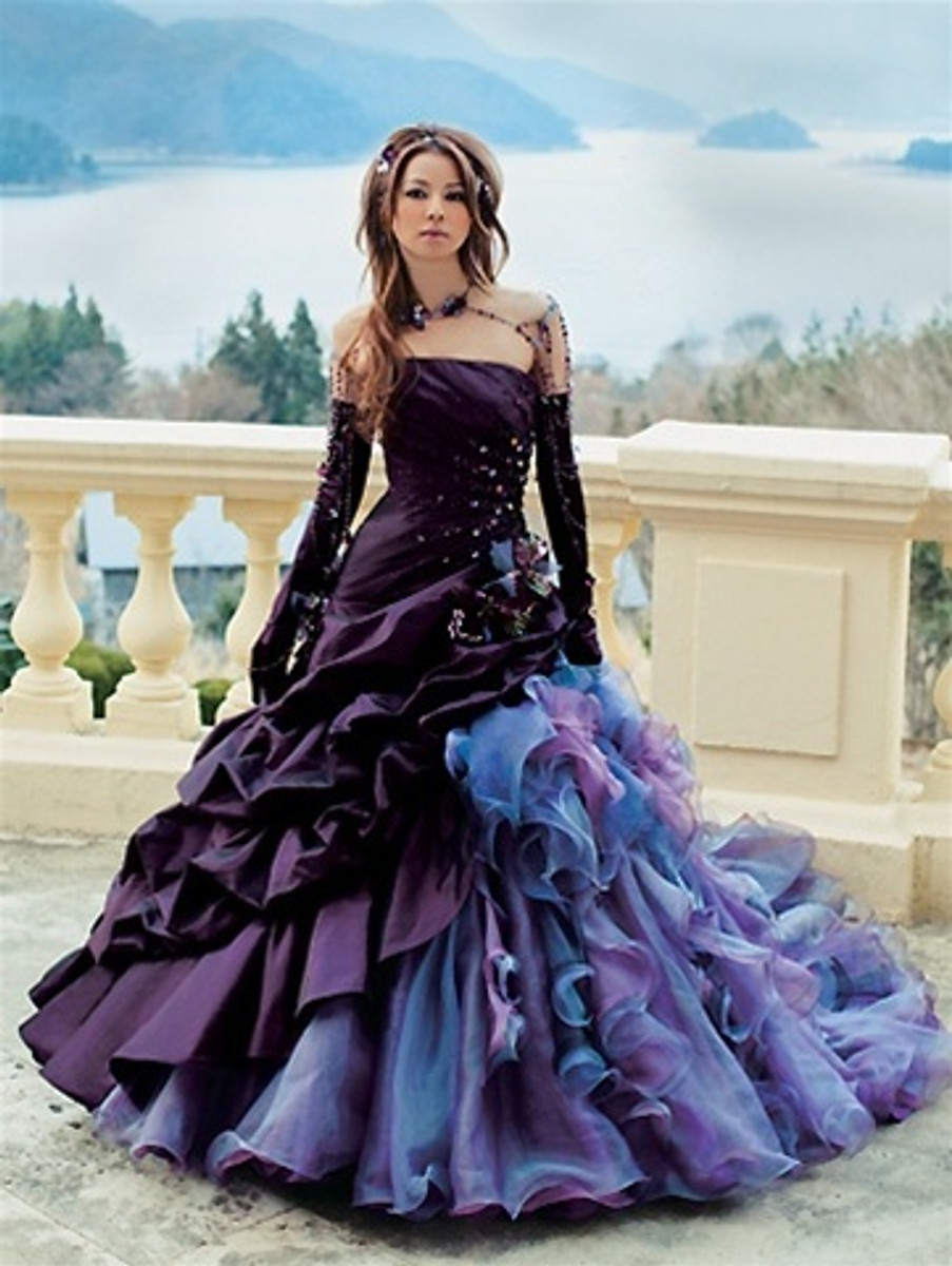 Purple bridal gown purple gothic wedding dress junglespirit Images