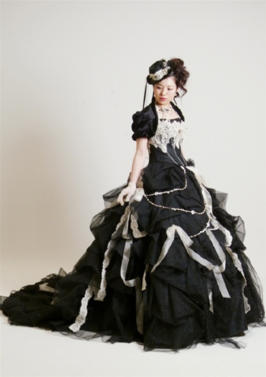 Steampunk Wedding Dress in Black