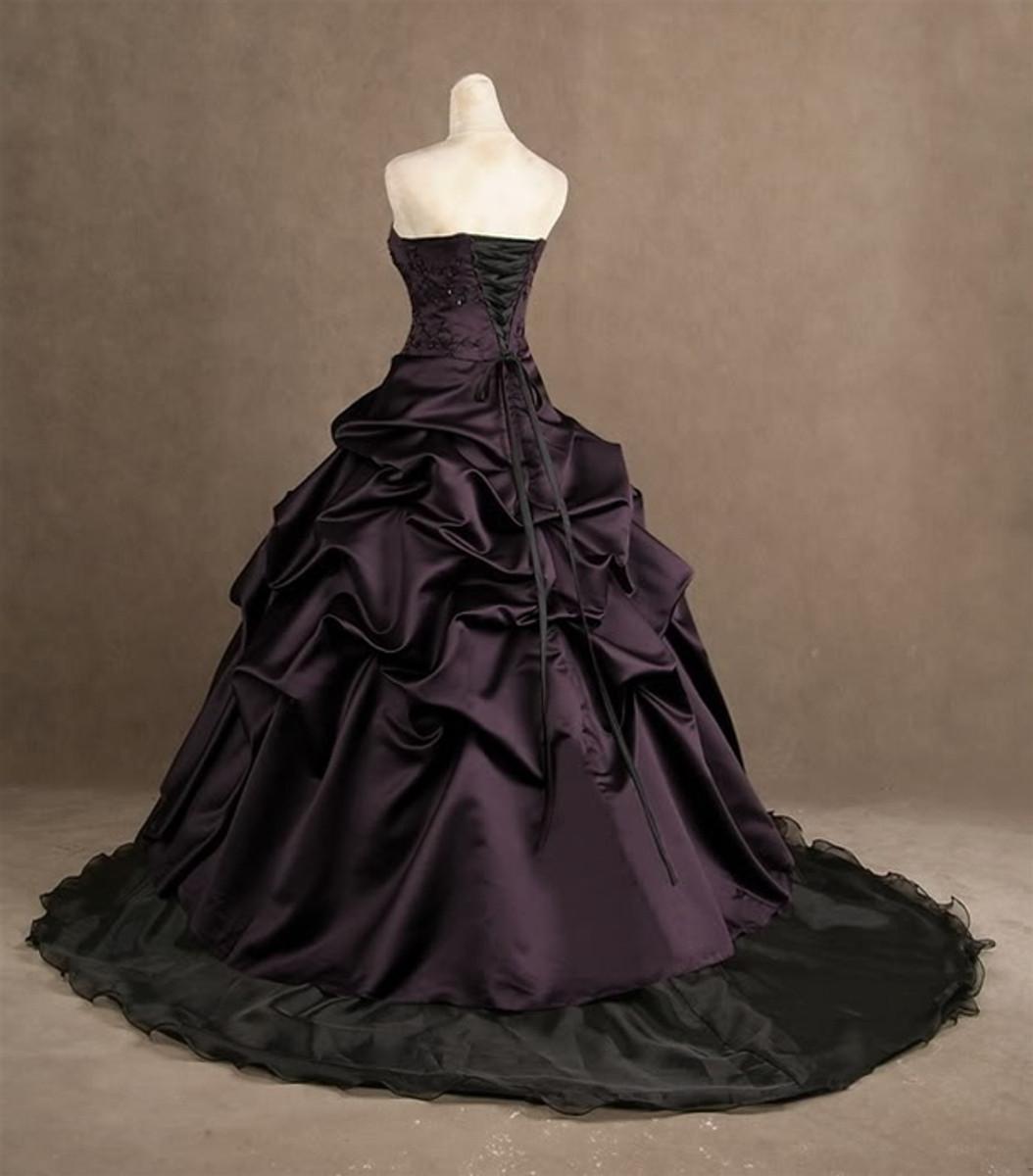 Purple Wedding Dress, Plum Wedding Dress