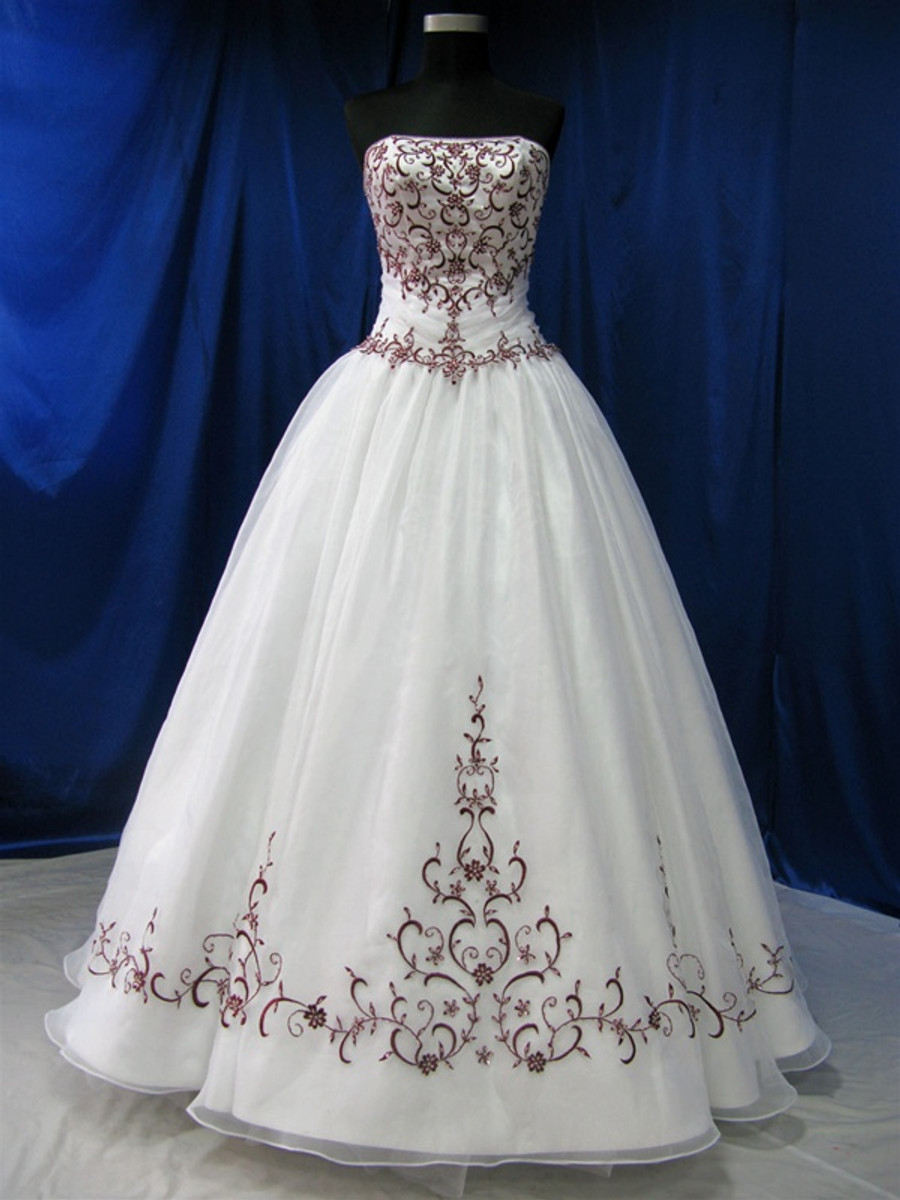 Red and White Wedding Dress - Available in Every Color - Wedding ...