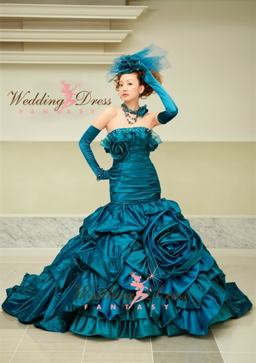 Teal Blue Wedding Dress