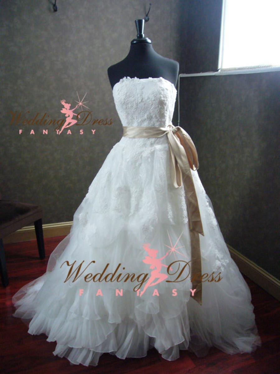 Designer Inspired Wedding Dress Eliza - Wedding Dress Fantasy