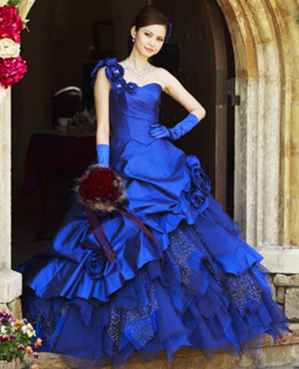 Royal blue bridal gown wedding dress fantasy royal blue wedding dress junglespirit Gallery