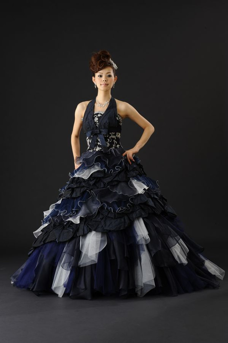 Navy Blue Bridal Gown - Wedding Dress Fantasy
