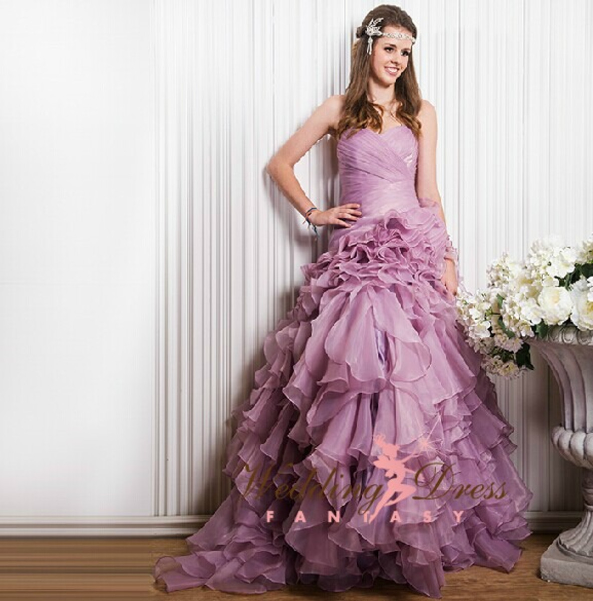 Lilac Wedding Dress - Wedding Dress Fantasy