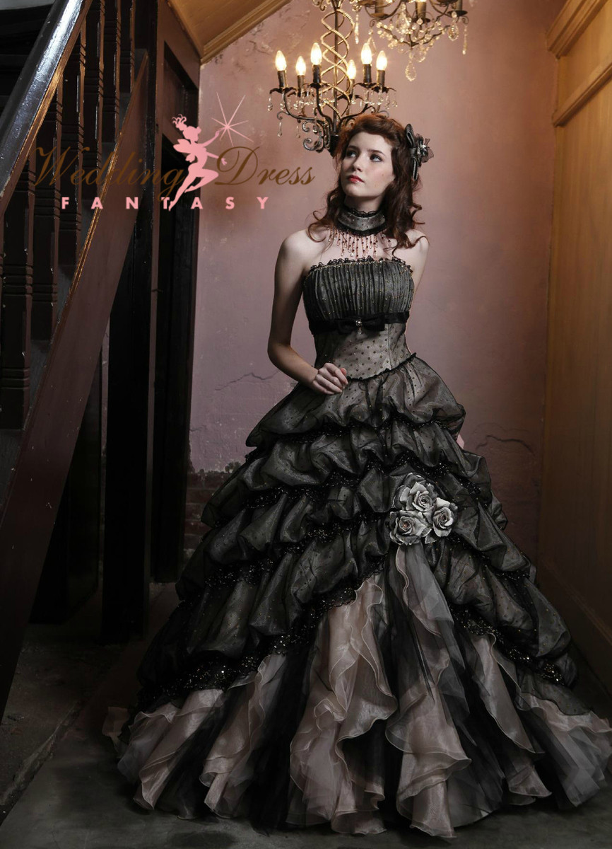 Black wedding dress gothic wedding dresses junglespirit Images