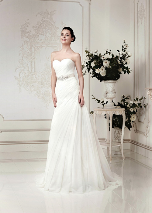 Pleated Wedding Dress
