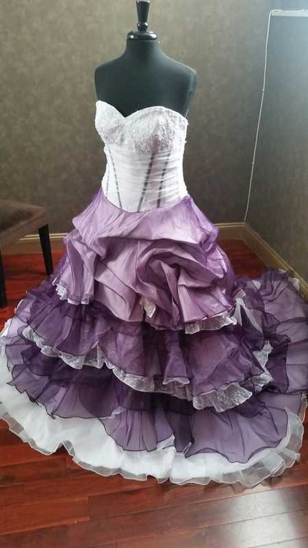 Purple wedding dresses purple and white wedding dress junglespirit Image collections
