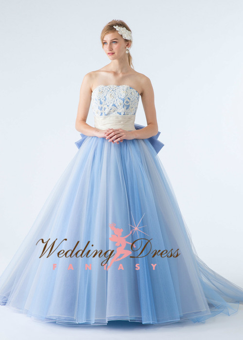 Royal Blue Bridal Gown - Wedding Dress Fantasy