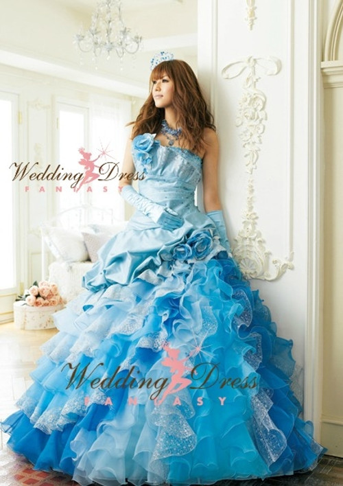 Wedding dress color blue