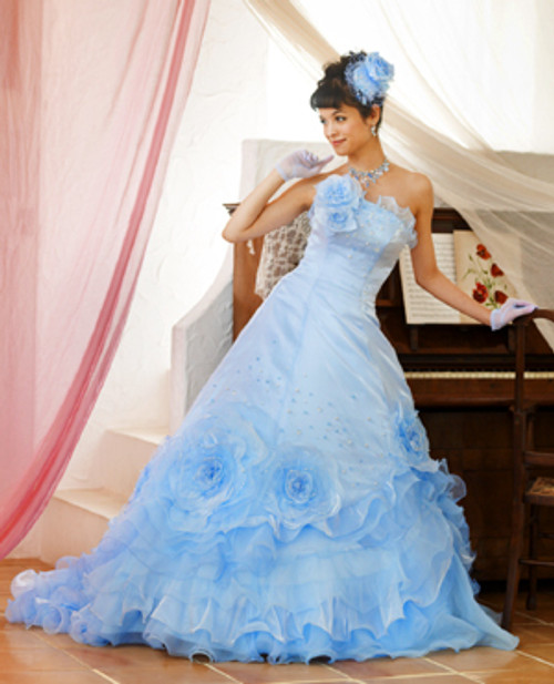 Light Blue Wedding Dress Elsa
