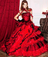 Red wedding dresses junglespirit Image collections