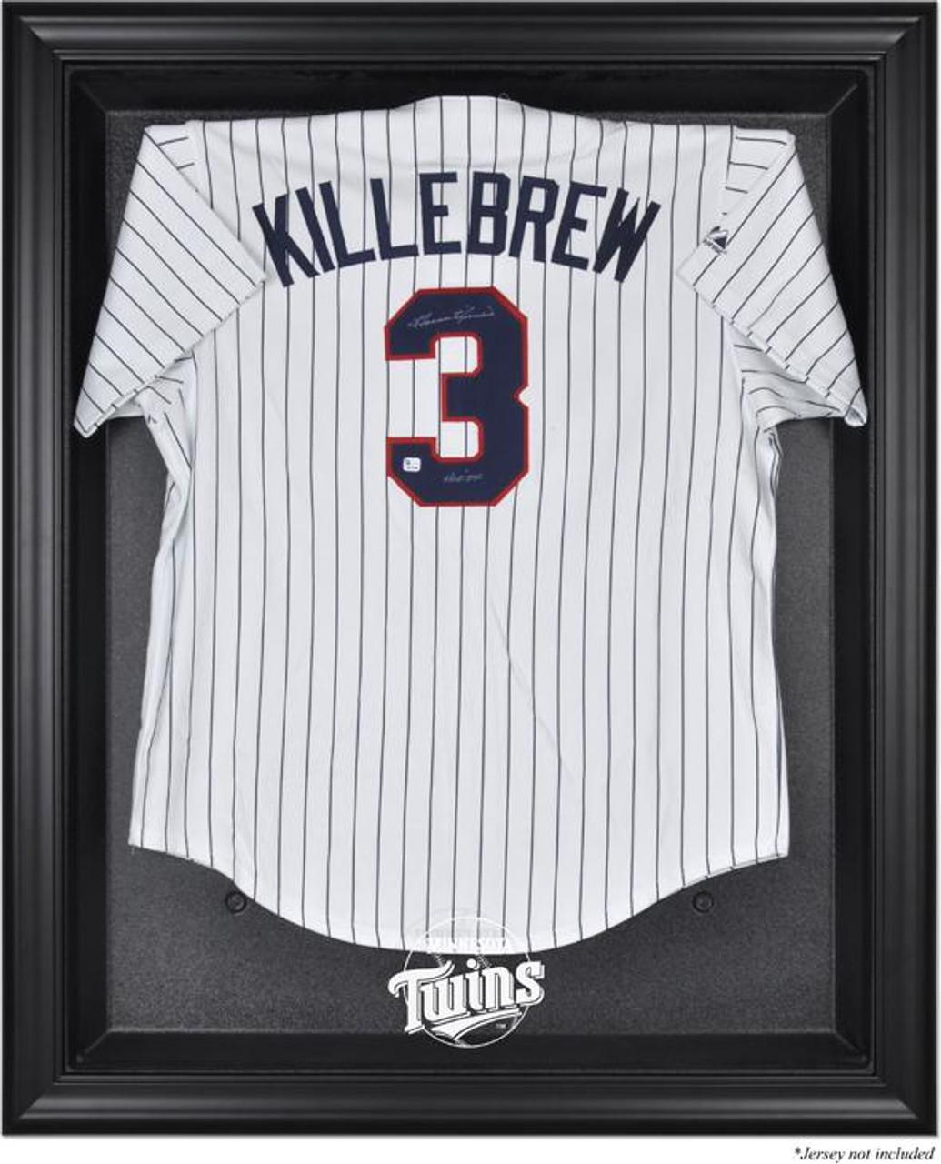Black Framed MLB Twins Jersey Display Case | Nikco Sports Memorabilia