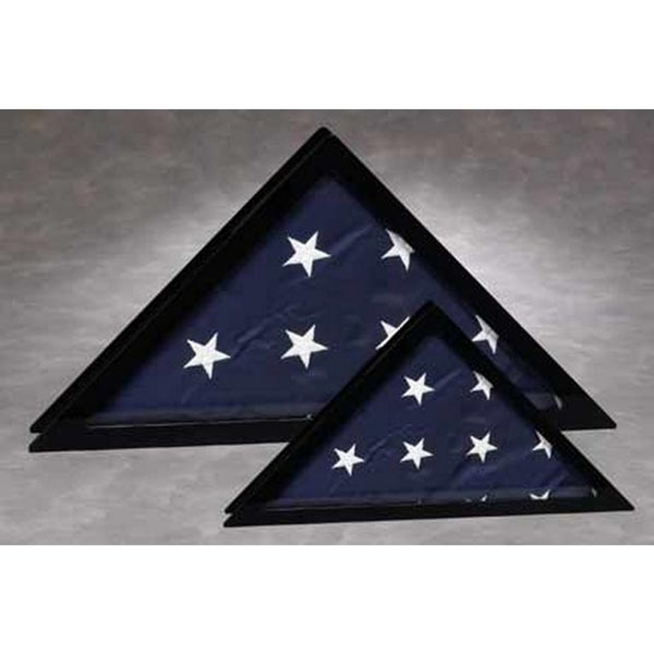 Flag Display Case With Black Frame And Clear Front Small Nikco