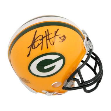 AJ Hawk Green Bay Packers Autographed Mini Helmet