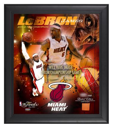 Miami Heat 2012 NBA Championship Plaque - Lebron James