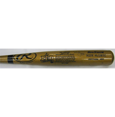 Mark McGwire St Louis Cardinals Big Stick Bat 500th Home Run Edition
