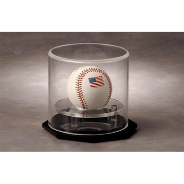 1 Baseball Circular Vertical Display Case