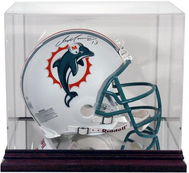 Antique Mahogany Helmet Display Case