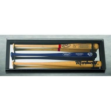 Elite 3 Baseball Bat Display Case with Mirrored Back