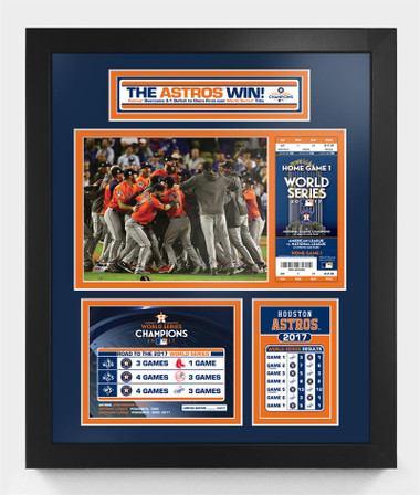 Houston Astros World Series Champions Framed & Matted Piece