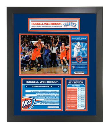 Russell Westbrook Triple Double Framed Piece