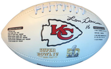 Len Dawson Autographed Kansas City Chiefs 50th Anniversary Football (inscribed)